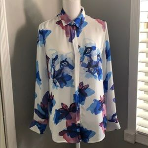 Banana Republic Watercolor Sheer Blouse